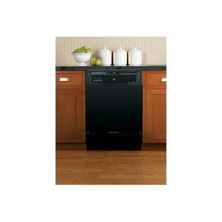 """GE - 24"""" Built-In Dishwasher - Black"""