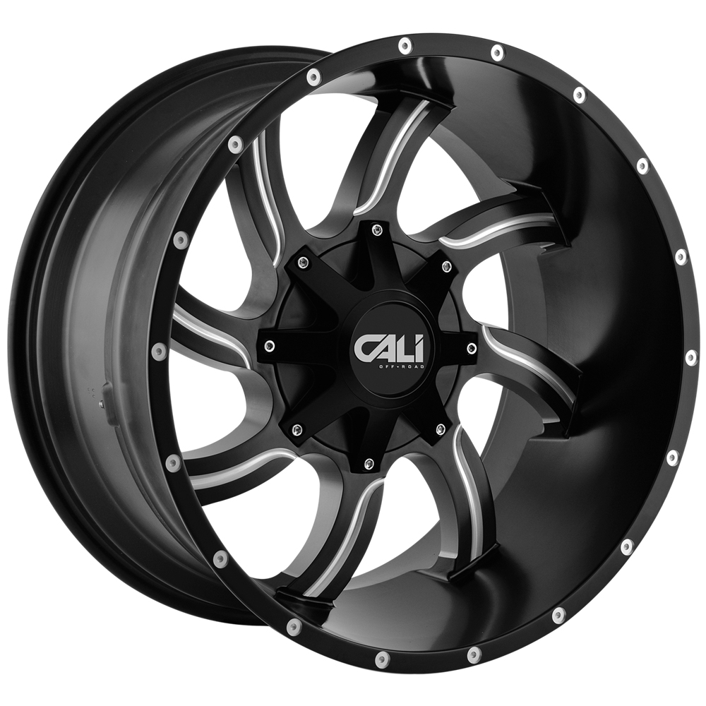 "20"" Inch Cali Offroad 9102 Twisted 20x12 8x6.5""/8x170 Black/Milled Wheel Rim"