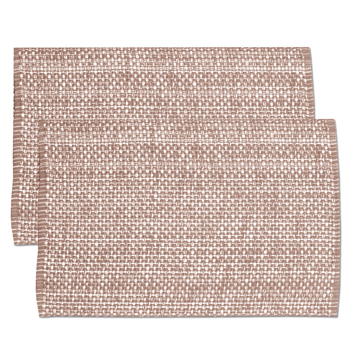 "Lintex Trends Collection Two Tone Woven Placemat 100% Cotton 10"" x 19"" 6 Pack"