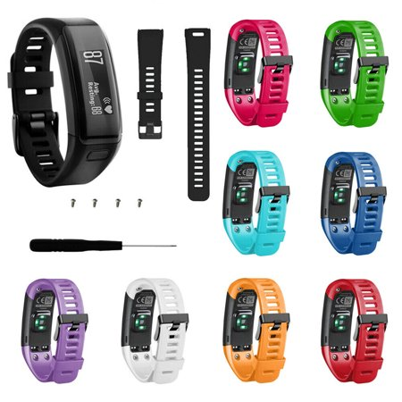 Replacement Soft Silicone Band Strap WristBand For Garmin Vivosmart HR ()