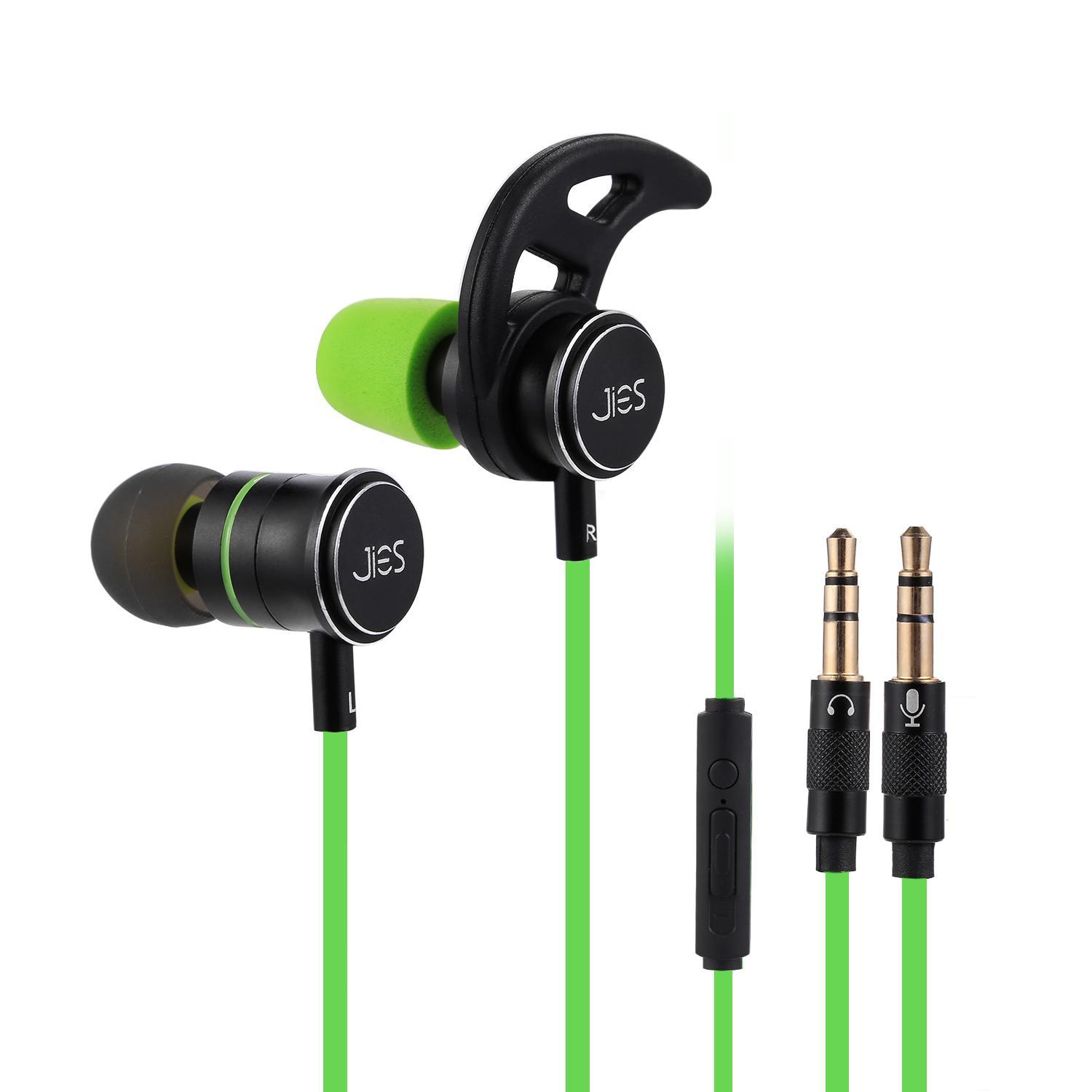 Wired Gaming Headphone In Ear with Mic Extension Cable 3.5mm Stereo Earphones for PC Laptop Cellphone HFON