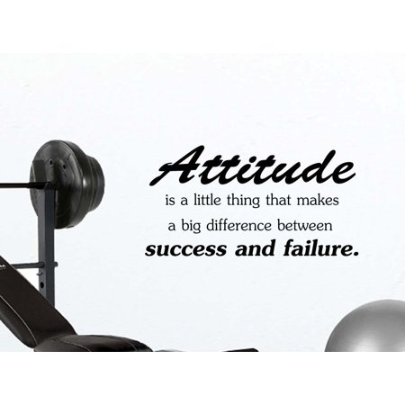 Attitude is a little thing that makes a big difference between success and failure office classroom motivational inspirational quote family love vinyl saying Jordan wall art lettering sign room decor](Classroom Wall Decorations)