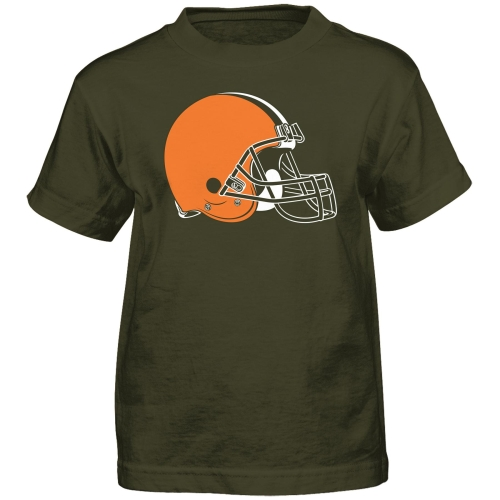 Cleveland Browns Preschool Team Logo Short Sleeve T-Shirt - Brown