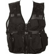 Modern Warrior Junior Tactical Vest, Airsoft and Paintball Accessory, Fits 50-125 lbs, Black
