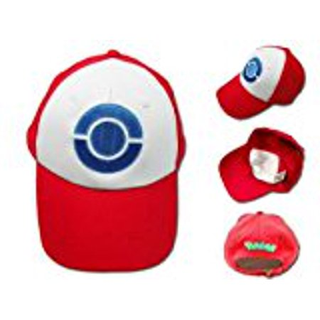 Pokemon Hat Ash Ketchum Visor Cap Costume Cosplay Anime Red Baseball Hat - Pokemon Cosplay For Sale