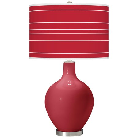 Color + Plus Samba Bold Stripe Ovo Table