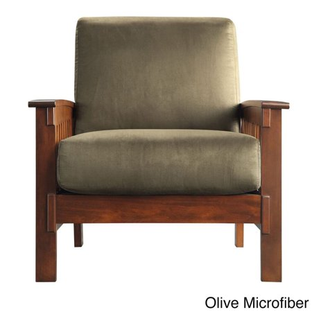 Inspire Q Hills Mission Style Oak Accent Chair By Classic Walmart Com