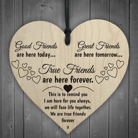 Mosunx Wooden Hanging Gift Plaque Pendant Family Friendship Love Sign Wine Tags Decor