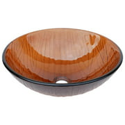 Eden Bath EB_GS13 Bathroom Cola Brown Wood Vein Tempered Glass Vessel Sink