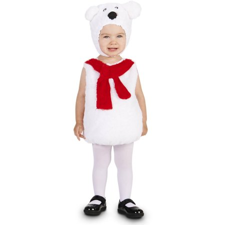 Polar Bear Toddler Halloween Costume, Size - Polar Bear Toddler Costume