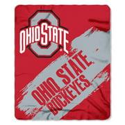 Ohio State Buckeyes Painted Fleece Throw