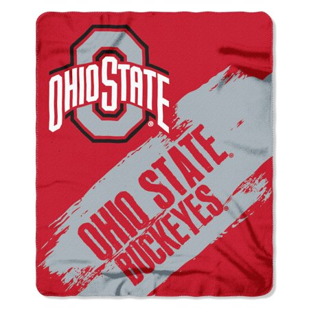 Ohio State Buckeyes Painted Fleece Throw (Nc State Fleece)