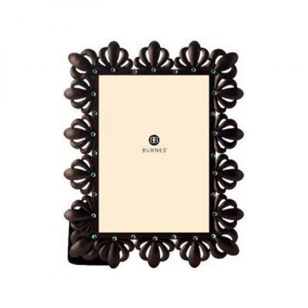Burnes of Boston 538646 moonlight bay jane: stamped metal with jewels picture frame, bronze, 4 by 6-inch