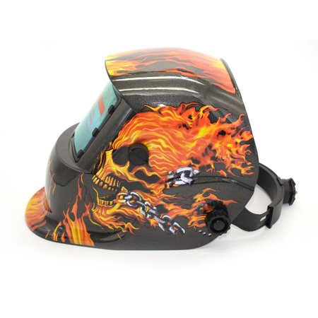Solar Powered Auto Darkening TIG MIG MMA Electric Welding Mask Welder Cap - image 6 of 9