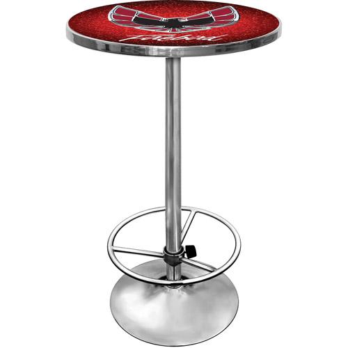 "Trademark Pontiac Firebird 42"" Pub Table, Chrome/Red"