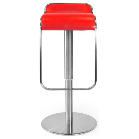 Kardiel Lem Piston Modern Bar Stool Red Premium Leather