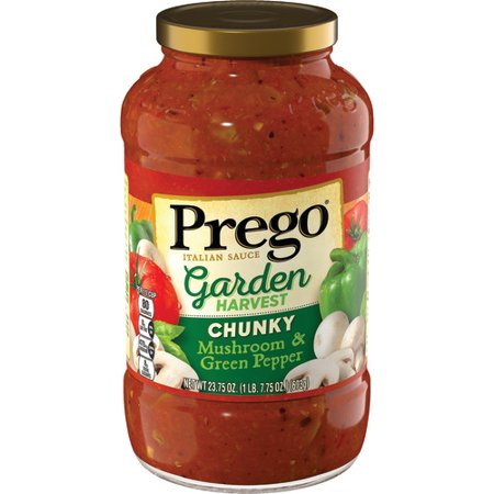 (2 Pack) Prego Garden Harvest Mushroom & Green Pepper, 23.75 oz.