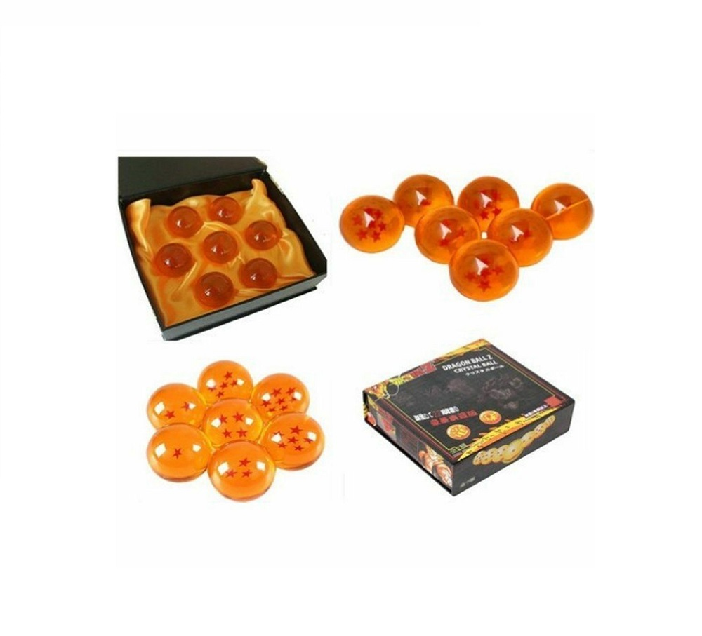 Dragon Ball Z Stars Crystal Balls Complete Set Blue Orange Elegant Gift Box