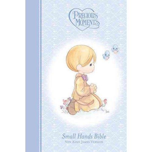Precious Moments Holy Bible: New King James Version, Blue, Small Hands Bible