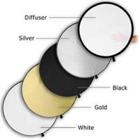 Fotodiox Reflector-5in1-40x60 40 x 60 in. 5-in-1 Reflector Pro, Premium Grade Collapsible Disc, Soft Silver, Gold, Black, White & Diffuser