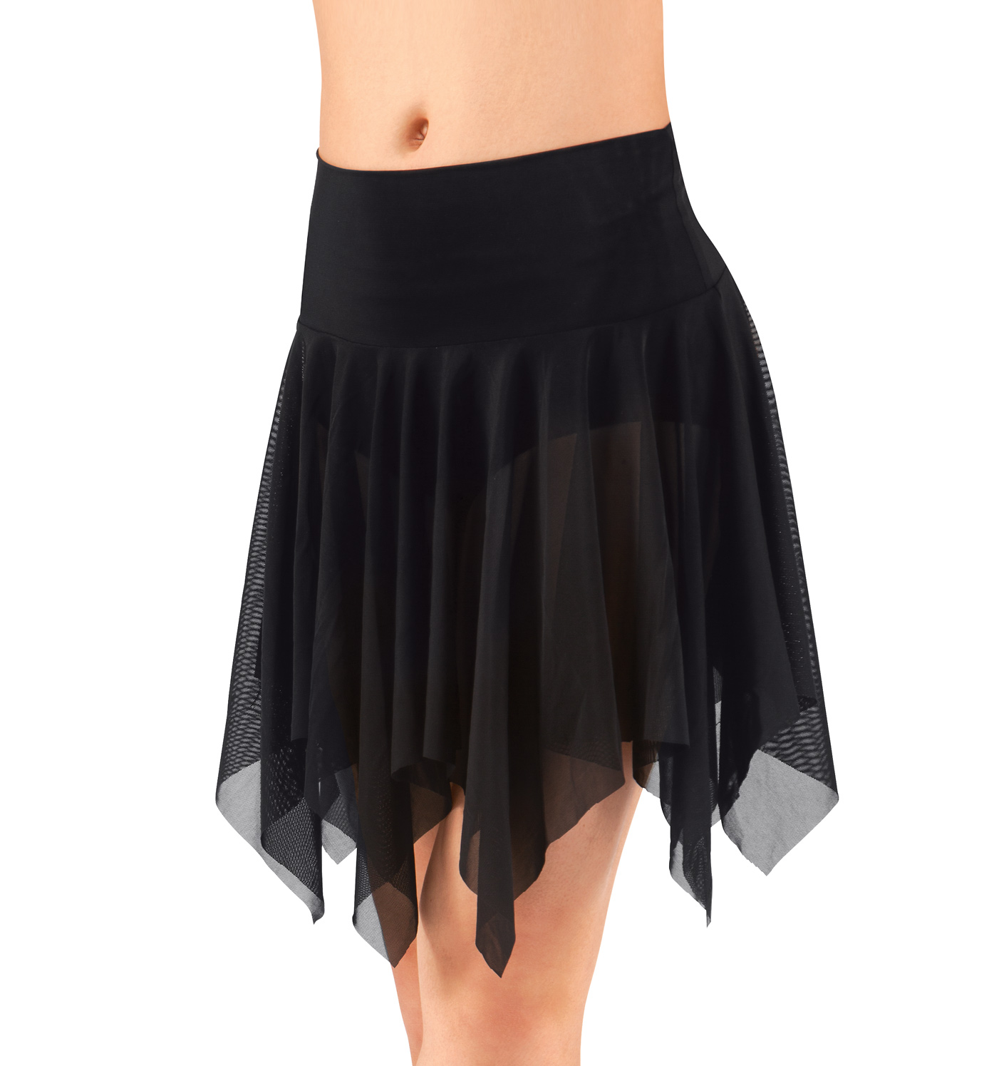 Image of Adult Mesh Handkerchief Dance Skirt