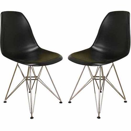 Wholesale Interiors Plastic Side Chair, Set of 2, -