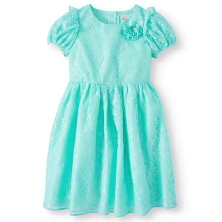 Cap Sleeve Lace Easter Dress (Little Girls & Big Girls)](Formal Dress For Girls 7-16)