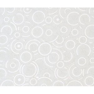 SheetWorld Fitted Oval (Stokke Mini) -  Grey Multi Circles