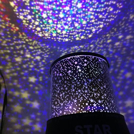 Rechargeable Fashion New Colorful LED Night Light with USB Projector Rotation ,Stand on Desk Star Light Lamp for Baby Kids Sleep  - Art Projects For Babies