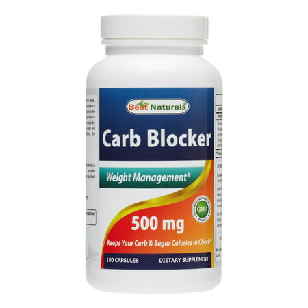 Best Naturals Carb Blocker Weight Loss Pills with White Kidney Bean, Ctules, 180