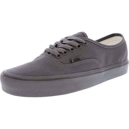 a04847ec73d Vans - Vans Authentic Lite Mono Gargoyle   Ankle-High Canvas Skateboarding  Shoe - 9M 7.5M - Walmart.com