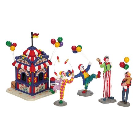 Carnival Ticket Booth, Set of 5 - By Lemax - Carnival Ticket