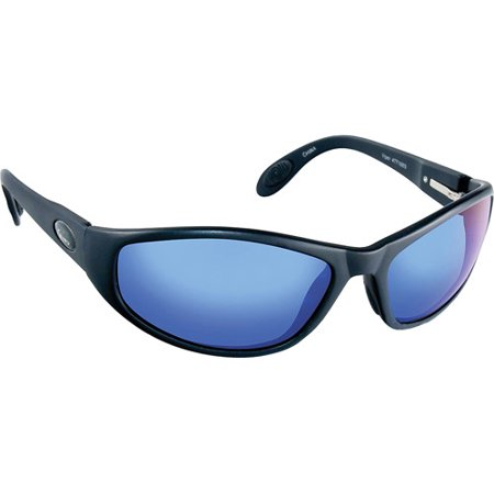 Flying Fisherman Viper Sunglasses, Black Frames, Smoke Lenses