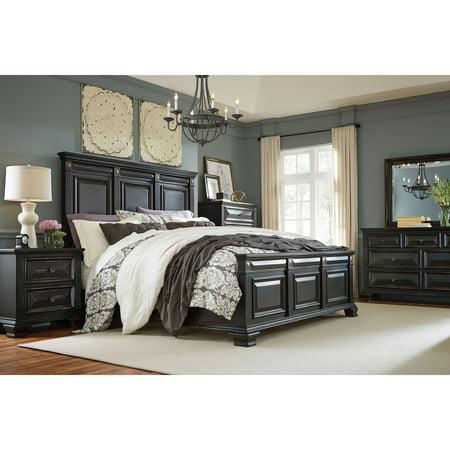Victorian Bedroom Suite - Cambridge Heritage 5-Piece Bedroom Suite: King bed, Dresser, Mirror, Chest, and Nightstand