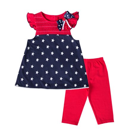 Good Lad 4/6X July 4th Knit Legging Set