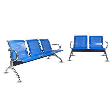 Marvelous Kinbor 5 Seat Guest Chair Waiting Chair Airport Reception Bench Room Garden Salon Barber Benches Blue Unemploymentrelief Wooden Chair Designs For Living Room Unemploymentrelieforg