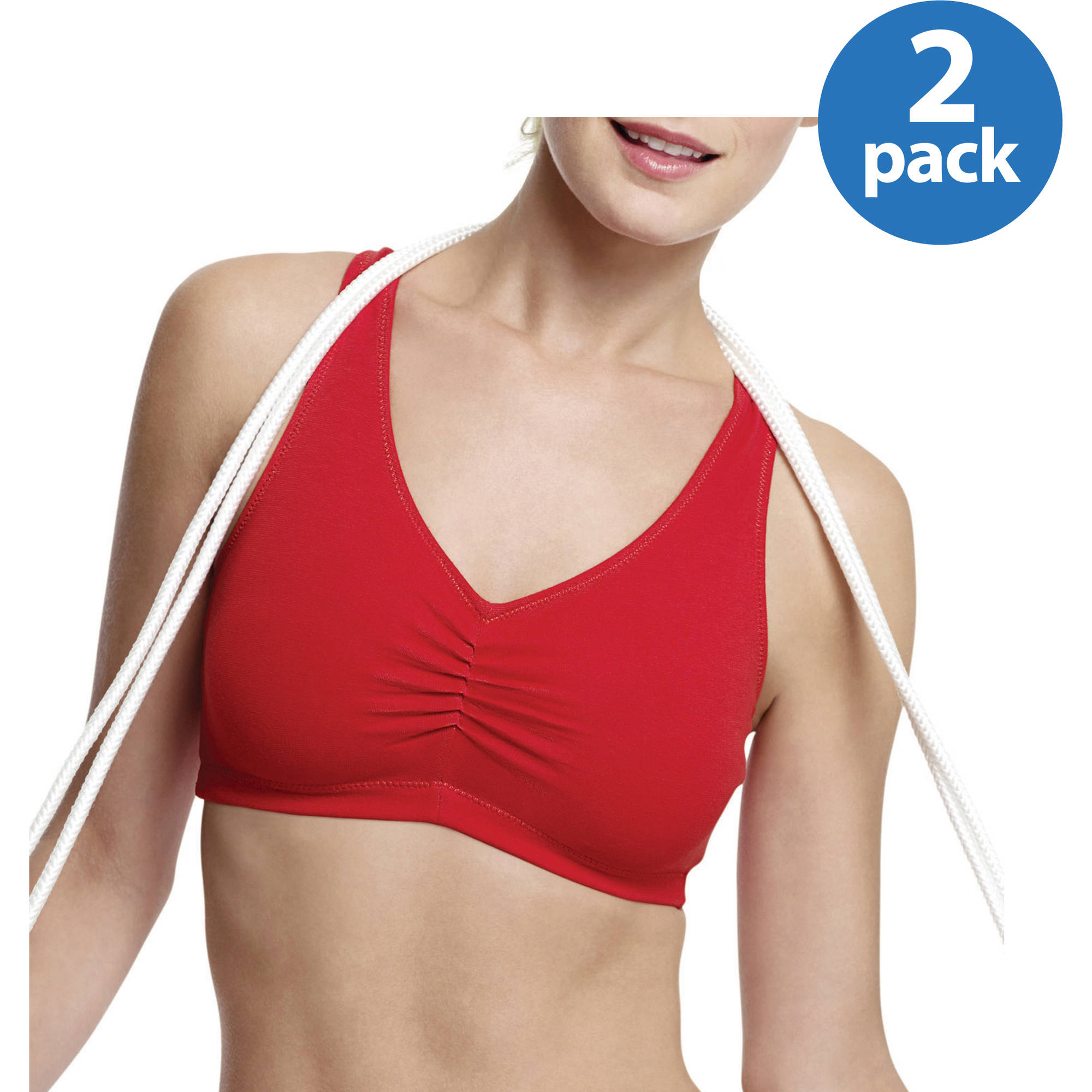 Hanes ComfortFlex Fit Cotton Pullover Bra 2-Pack, Style H570 ...