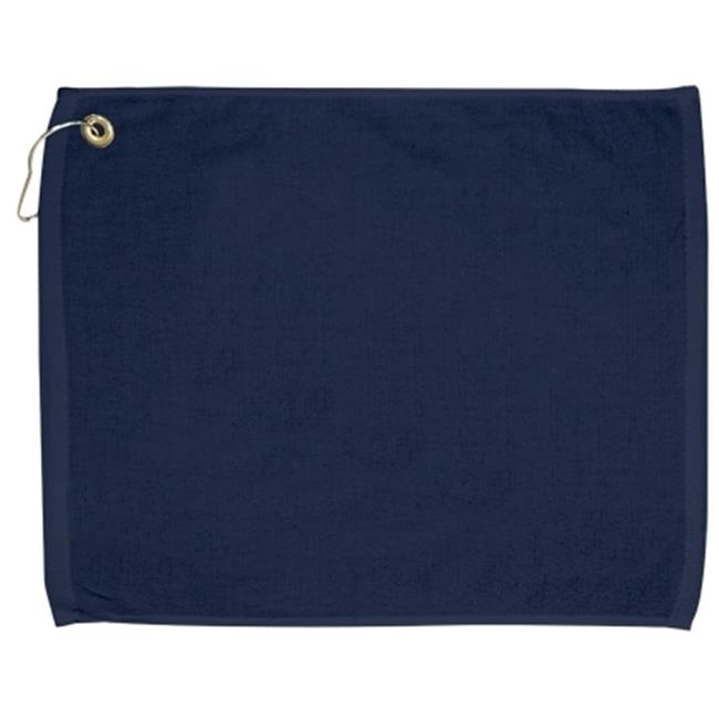 Bulk Buys 15x18 100 percent Cotton Velour Navy Hand Towel with Corner Grommet and Hook - Case of 144