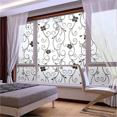 45x200cm 3D Privacy Window Glass Film Decor Home Bedroom Decal Self Adhesive NEW - image 3 de 6