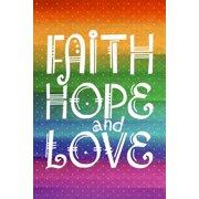 Banner-Faith Hope Love (2'x3')(Indoor)