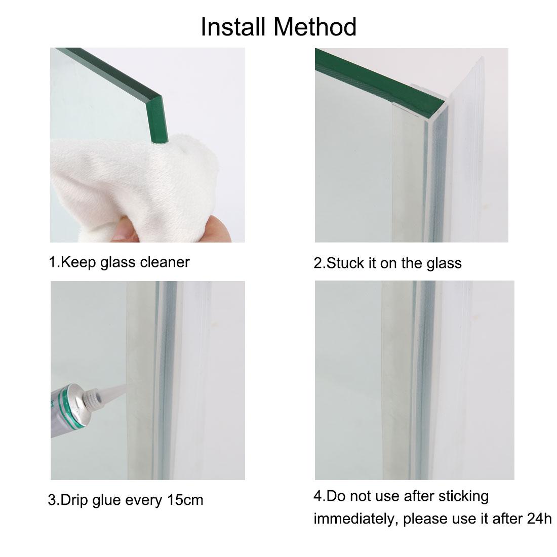 F Type Frameless Shower Door Bottom Seal For 1 2 Inch Glass