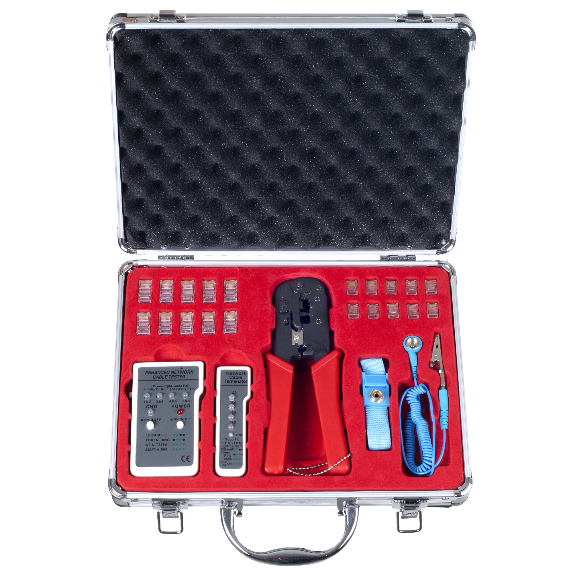 Computer, PC and Network Cable Installation and Testing Kit - 24 pc. by Stalwart