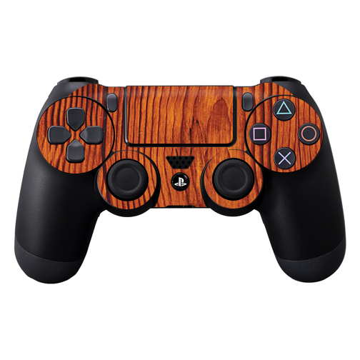 Protective Vinyl Skin Decal Cover for Sony PlayStation DualShock 4 Controller wrap sticker skins Knotty Wood