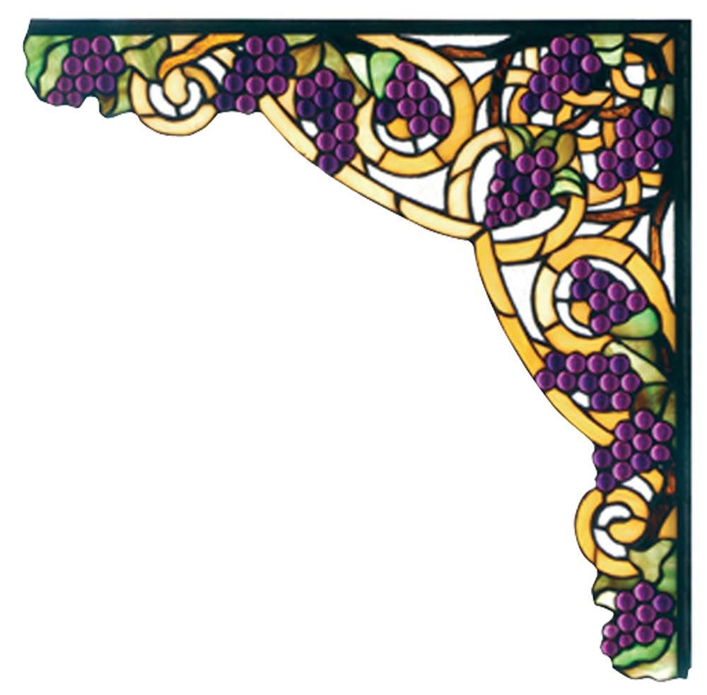 Jeweled Grape Right Corner Bracket
