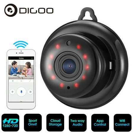 DIGOO Mini Security Camera,960P Smart Home WiFi Camera Wireless Surveillance with Night Vision,Two-way Audio,Support Onvif and APP (Glass Camera App)