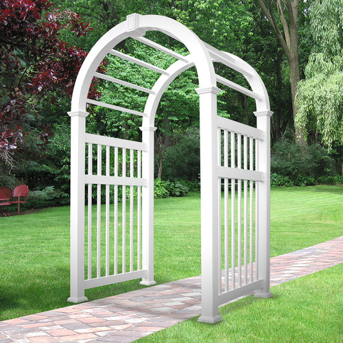 Weatherables Elizabethan Vinyl Arbor by Arbors
