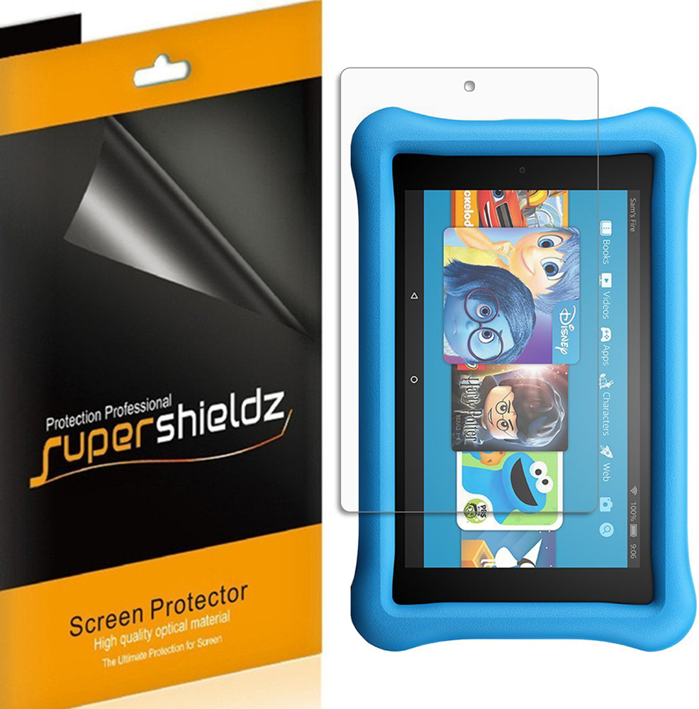 """[3-pack] Supershieldz for Amazon All-New Fire HD 8 Kids Edition Tablet 8"""" (2017 release) Screen Protector, Anti-Bubble High Definition (HD) Clear Shield"""