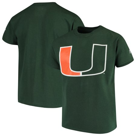 Miami Hurricanes Russell Youth Oversized Graphic Crew Neck T-Shirt - (Miami Hurricanes Green Basketball)