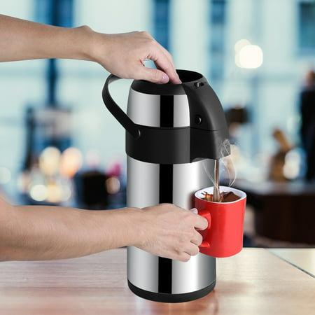 Sonew Distributeur de café Airpot sous vide en acier inoxydable de 3 litres avec pompe, Airpot en acier inoxydable, Airpot sous vide - image 8 de 8