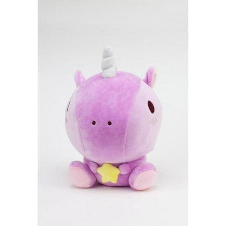 SMOKO Boon Cuddly Plush Unicorn, Baby Uni Stuffed Animal Doll, Pink - Uni Plush